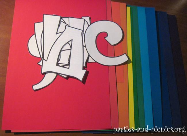 Нарисованные буквы на день рождения своими руками